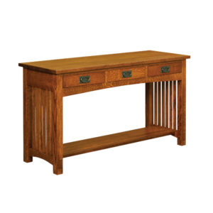 Bungalow Mission 3 Drawer Sofa Table by Amish Crafted by Noah Bontrager
