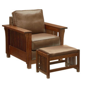 Bungalow Mission Club Chair by Amish Crafted by Noah Bontrager