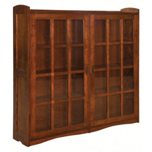Bungalow Mission Double Door Bookcase by Amish Crafted by Noah Bontrager
