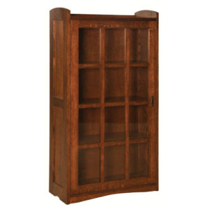 Bungalow Mission Single Door Bookcase by Amish Crafted by Noah Bontrager
