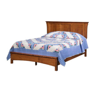 Bungalow Panel Bed w/ Low Footboard by Amish Crafted by Noah Bontrager