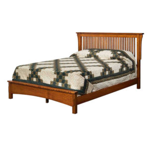 Bungalow Spindle Bed w/Low Footboard by Amish Crafted by Noah Bontrager