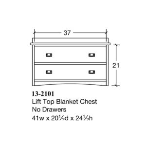 Bungalow Lift Top Blanket Chest by Amish Crafted by Noah Bontrager