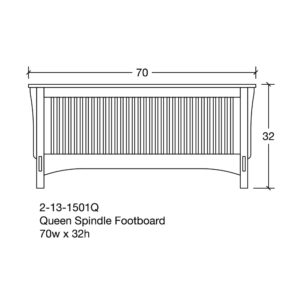 Bungalow Queen Spindle Footboard by Amish Crafted by Noah Bontrager