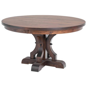 Caspian Single Pedestal Table by Amish Crafted by Noah Bontrager