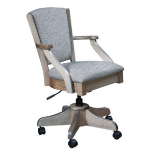 Cheyenne Upholstered Desk Chair by Amish Crafted by Noah Bontrager