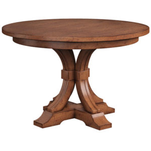 Farmville Single Pedestal Table by Amish Crafted by Noah Bontrager