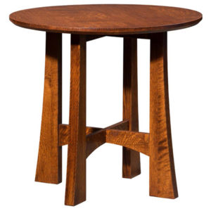 Highland Round Table by Amish Crafted by Noah Bontrager