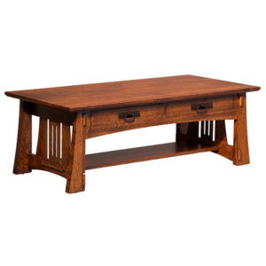 Highland Coffee Table with Drawers by Amish Crafted by Noah Bontrager