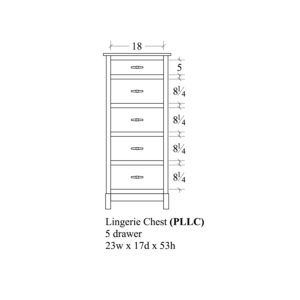 Platte River Lingerie Chest, 5 drawer by Amish Crafted by Noah Bontrager