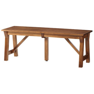 Simplicity Solid Top Bench by Amish Crafted by Noah Bontrager