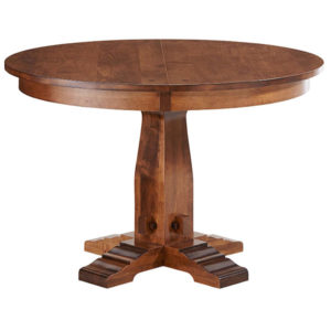 Simplicity Single Pedestal Table by Amish Crafted by Noah Bontrager