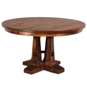 Vienna Single Pedestal Table by Amish Crafted by Noah Bontrager