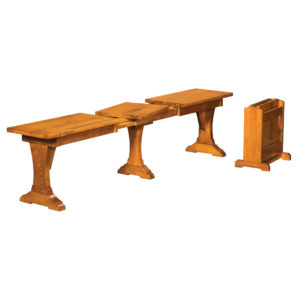 Wasilla Expandable Bench by Amish Crafted by Noah Bontrager