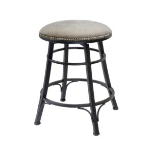 Baja Backless Swivel Barstool (Gray) by Monterey – Your Choice 24″ Counter or 30″ Bar
