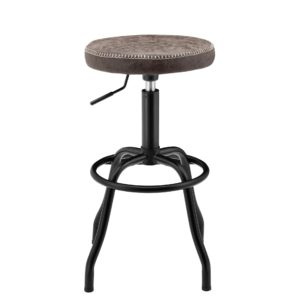 Eaton Adjustable Barstool (Vintage Coffee Brown) by New Pacific Direct