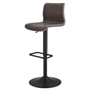 Jayden Low Back Adjustable Barstool (Vintage Coffee Brown) by New Pacific Direct