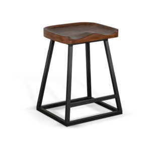 Kingswood Backless Barstool by Sunny Designs – Your Choice 24″ Counter or 30″ Bar