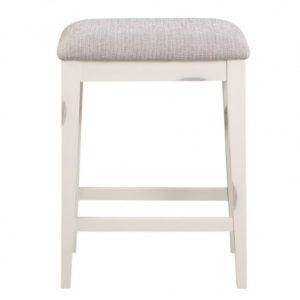 Woodbridge Cushion Backless Barstool (White) by Winners Only
